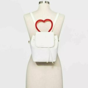 Wild Fable White Mini Backpack w/Heart Handle